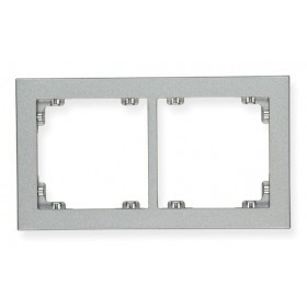 Ramka uniwersalna podwójna Karlik DECO 7DR-2 srebrny metalik