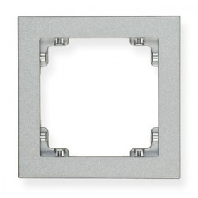 Ramka uniwersalna pojedyncza Karlik DECO 7DR-1 srebrny metalik