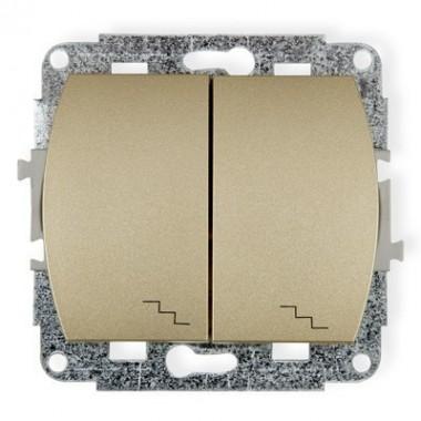 Mechanizm łącznika podwójnego schodowego Karlik TREND 6WP-33 złoty