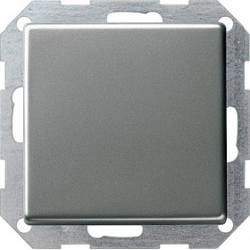 Łącznik przyciskowy przełączalny Gira E22 naturalny stalowy 012120