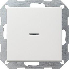 Łącznik przyciskowy wyłącz 2bieg. kontr System 55 biały 012203