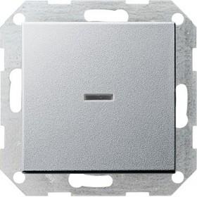 Łącznik przyciskowy wyłącz 2bieg. kontr System 55 kolor aluminiowy 012226