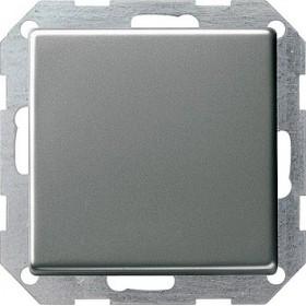 Łącznik przyciskowy Przełączn.krzyżowy Gira E22 naturalny stalowy 012320