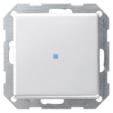 Łącznik przyciskowy kontrolny Gira E22 biały 0124201