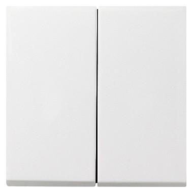 Łącznik przyciskowy Wył. świecznikowy Gira F100 biały 0125112