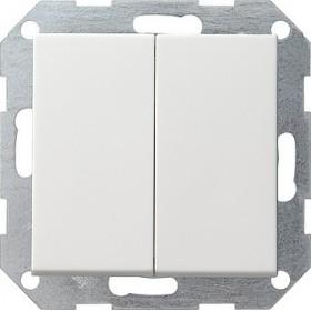 Łącznik przyciskowy Wył. świecznikowy System 55 biały matowy 012527
