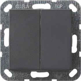 Łącznik przyciskowy Wył. świecznikowy System 55 antracytowy 012528