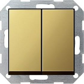 Łącznik przyciskowy Wył. świecznikowy System 55 mosiądz 0125604