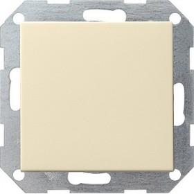 Łącznik przyciskowy przełączalny System 55 kremowy 012601