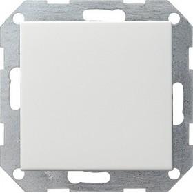 Łącznik przyciskowy przełączalny System 55 biały 012603