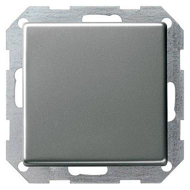 Łącznik przyciskowy przełączalny Gira E22 naturalny stalowy 012620