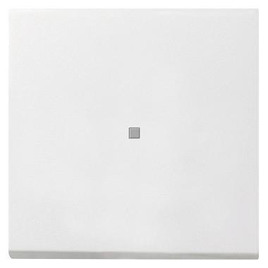 Łącznik przyciskowy kontr, przełączalny Gira F100 biały 0136112