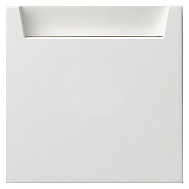 Łącznik na kartę z polem opisowym Gira F100 biały 0140112
