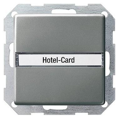Łącznik na kartę z polem opisowym Gira E22 naturalny stalowy 014020