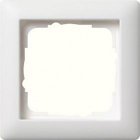 Ramka pojedyncza Standard 55 biały matowy 021104