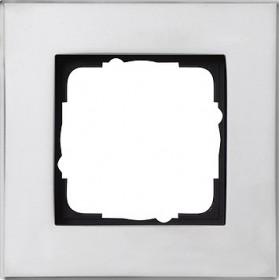 Ramka pojedyncza Gira Esprit chrom 021110