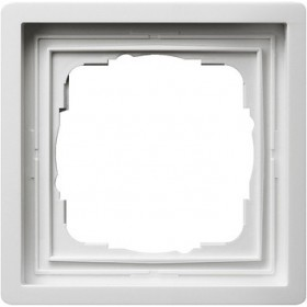 Ramka pojedyncza Gira F100 biały 0211112