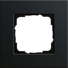 Ramka pojedyncza Gira Esprit aluminium czarne 0211126