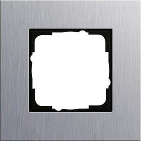 Ramka pojedyncza Gira Esprit aluminium 021117