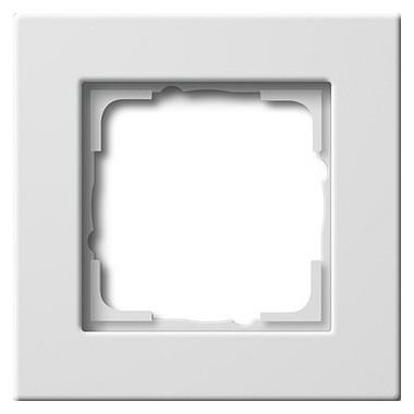 Ramka pojedyncza montaż płaski Gira E22 biały 0211204