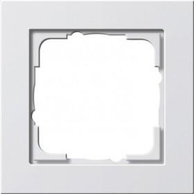 Ramka pojedyncza Gira E2 biały matowy 021122