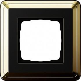 Ramka pojedyncza ClassiX mosiądz/czarny 0211632