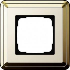 Ramka pojedyncza ClassiX mosiądz-kremowy 0211633