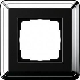 Ramka pojedyncza ClassiX chrom-czarny 0211642