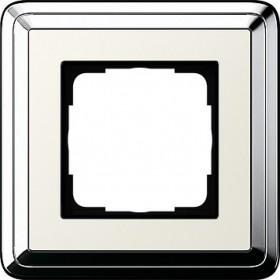 Ramka pojedyncza ClassiX chrom-kremowy 0211643