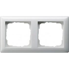 Ramka podwójna Standard 55 biały 021203