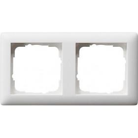 Ramka podwójna Standard 55 biały matowy 021204