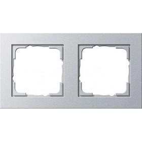 Ramka podwójna Gira E2 kolor aluminiowy 021225