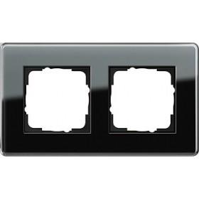 Ramka podwójna Gira Esprit Szkło C czarne 0212505