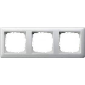 Ramka potrójna Standard 55 biały 021303