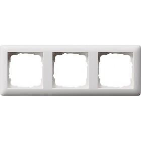 Ramka potrójna Standard 55 biały matowy 021304