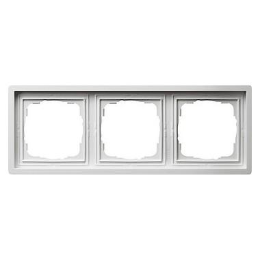 Ramka potrójna Gira F100 biały 0213112