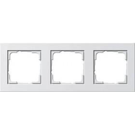 Ramka potrójna Gira E2 biały matowy 021322