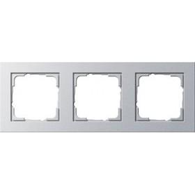 Ramka potrójna Gira E2 kolor aluminiowy 021325