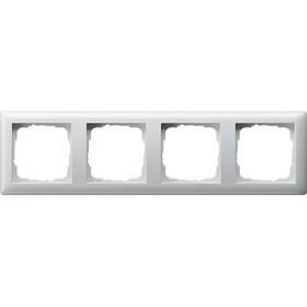Ramka poczwórna Standard 55 biały 021403