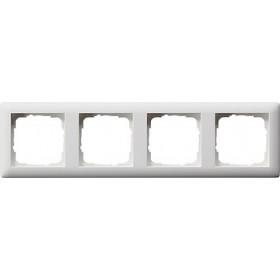 Ramka poczwórna Standard 55 biały matowy 021404