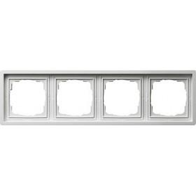 Ramka poczwórna Gira F100 biały 0214112