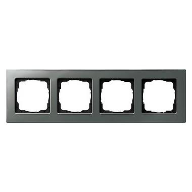 Ramka poczwórna montaż płaski Gira E22 naturalny stalowy 0214205