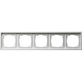 Ramka pięciokrotna Gira F100 biały 0215112