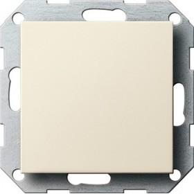 Zaślepka z płytką moc. System 55 kremowy 026801