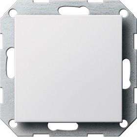 Zaślepka z płytką moc. System 55 biały matowy 026827