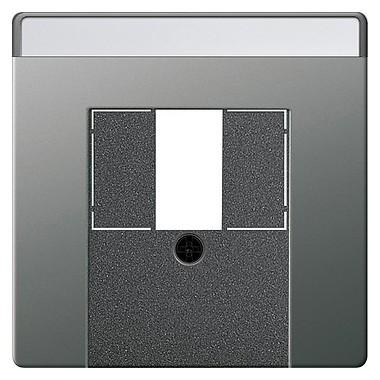Osłona do UAE/IAE TAE+stereo+USB Gira E22 naturalny stalowy 027620