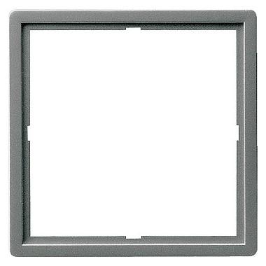 Ramka pośrednia 50x50 kwadratowa Gira E22 kolor nat. stalowy 028220