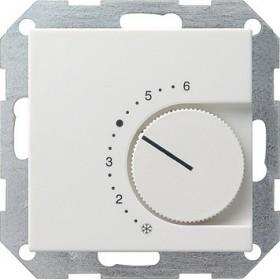 Reg. temp. 230 V styk rozwierny System 55 biały matowy 039027