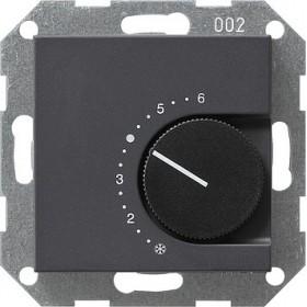 Reg. temp. 230 V styk rozwierny System 55 antracytowy 039028