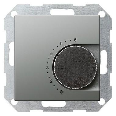 Reg. temp. 230 V przełączalny Gira E22 naturalny stalowy 039620